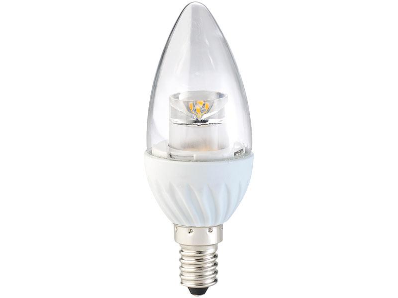 luminea led energiesparlampe e14 klare led kerze e14 4. Black Bedroom Furniture Sets. Home Design Ideas