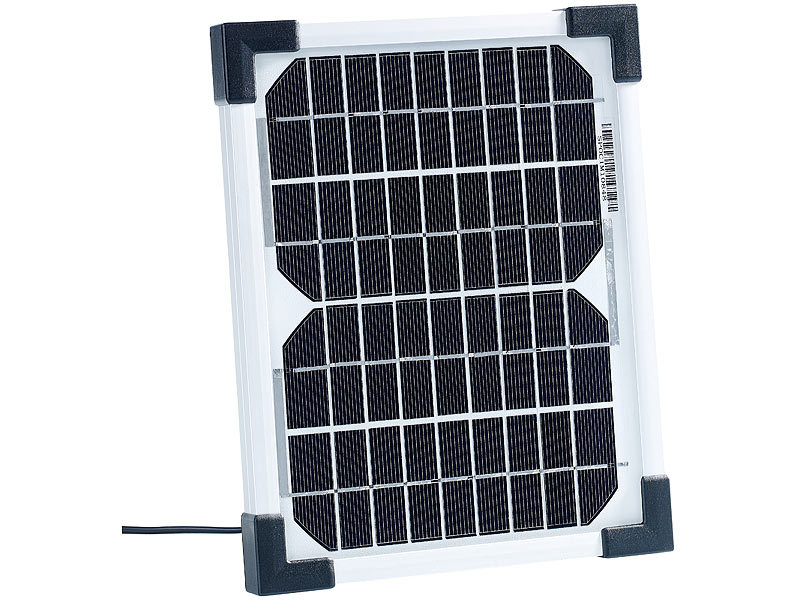 revolt solarmodule mobiles solarpanel mit monokristalliner solarzelle 5 w solarpanel f r. Black Bedroom Furniture Sets. Home Design Ideas