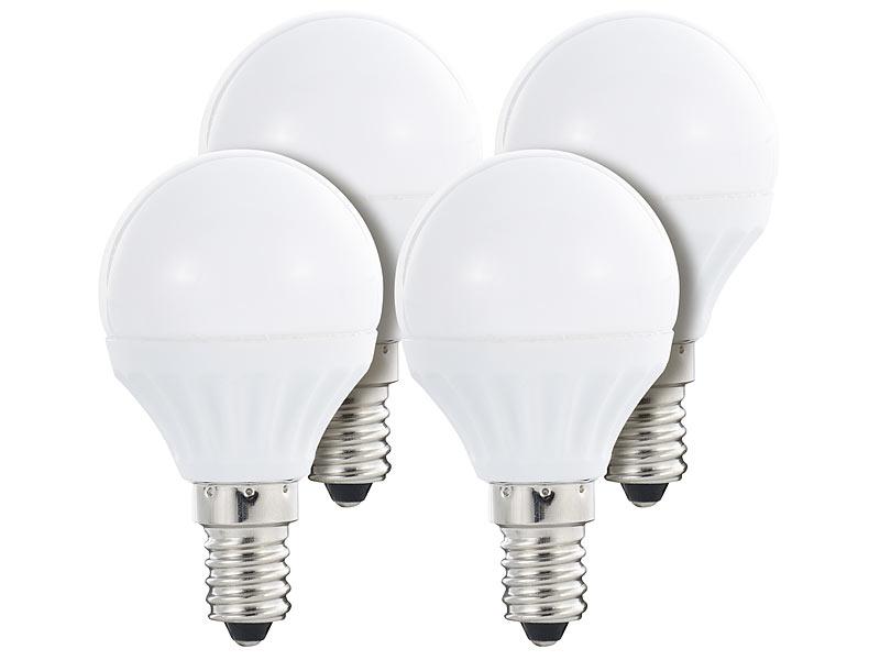 luminea led lampe 4 w e14 300 lm 160 p45 p warmwei 4er set. Black Bedroom Furniture Sets. Home Design Ideas