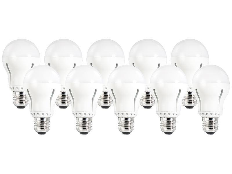 luminea led lampe 12 w e27 dimmbar warmwei 2700 k 1055 lm 10 er set. Black Bedroom Furniture Sets. Home Design Ideas