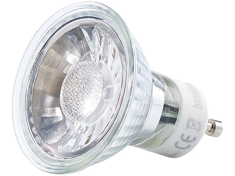 Luminea GU10 LED-Spotlampe: COB-LED-Spotlight, GU10, 5 W, 400 lm ...