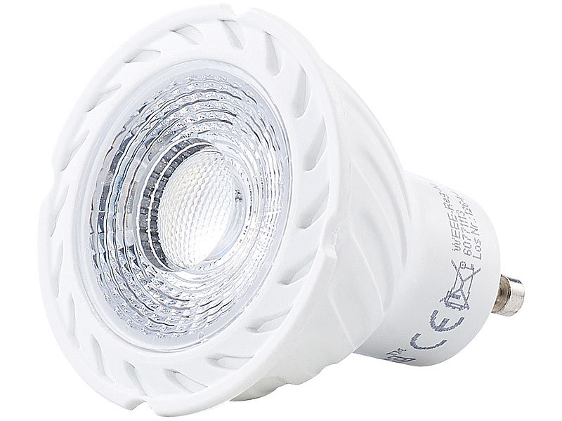 Luminea gu led leuchten cob led spotlight gu w lm