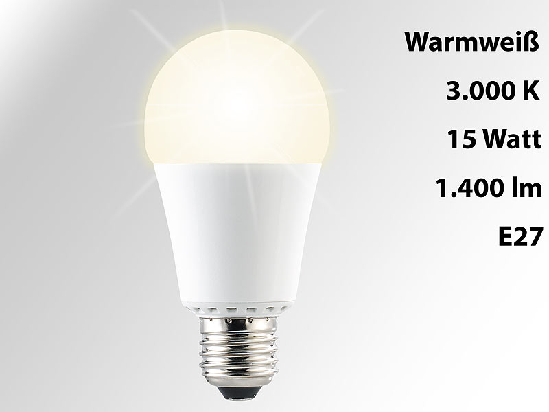 E 27 LED Lampen: Luminea High Power LED Lampe, E27,