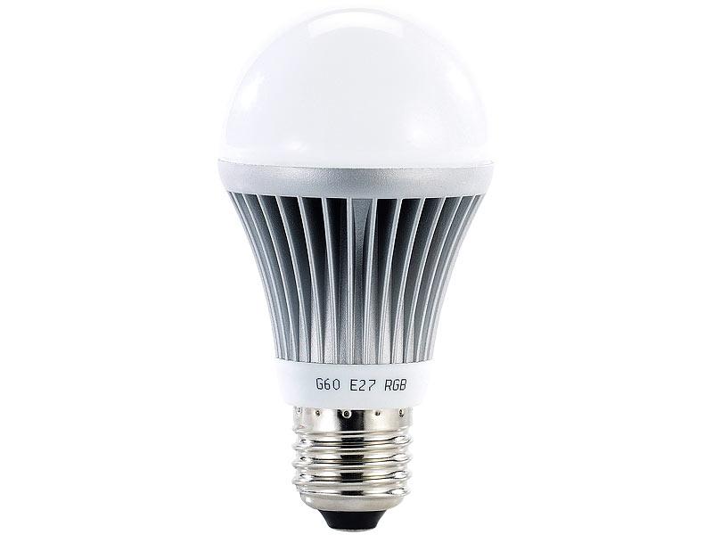 Luminea Farbwechselnde LED Lampe (RGB LED) Mit Fernbedienung, E27