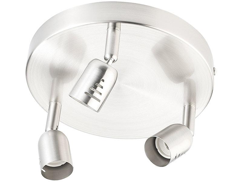 britesta led deckenleuchten spot lampe chromis 3 spots gu10 bis 50 w retro strahler. Black Bedroom Furniture Sets. Home Design Ideas