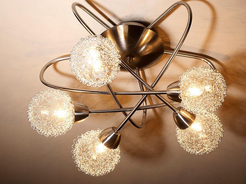 britesta deckenlampe spot lampe koronis 5 spots g9. Black Bedroom Furniture Sets. Home Design Ideas