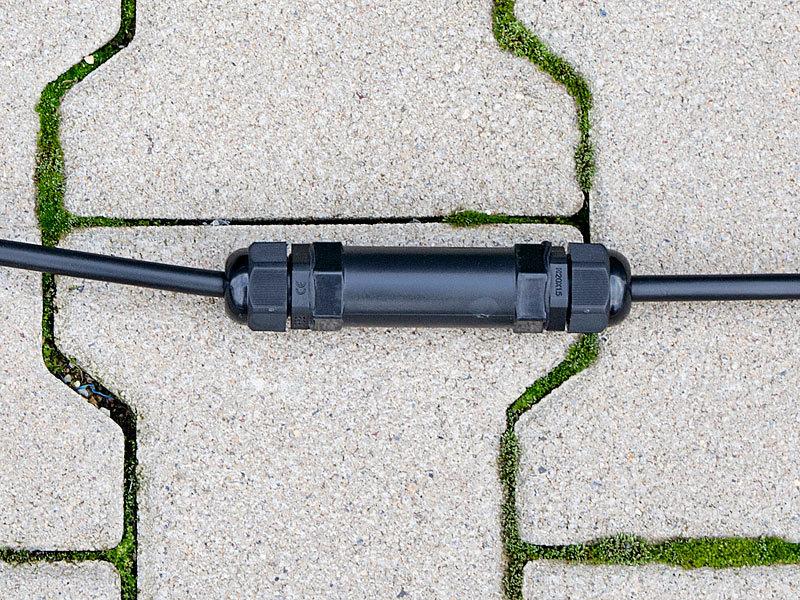 revolt Kabelverbinder: Outdoor-Kabel-Verbindungsbox, IP68, für ...