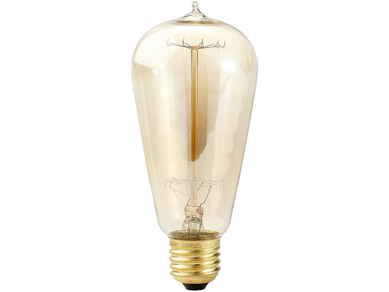 Luminea Vintage Glühbirnen: Vintage-Schmucklampe, konisch, mit ...