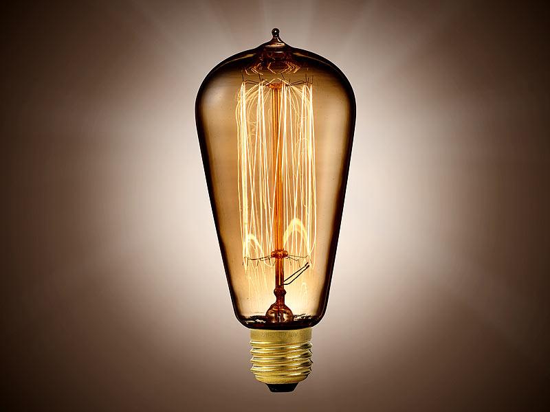 luminea vintage schmucklampe konisch mit gitterf rmigem gl hdraht. Black Bedroom Furniture Sets. Home Design Ideas