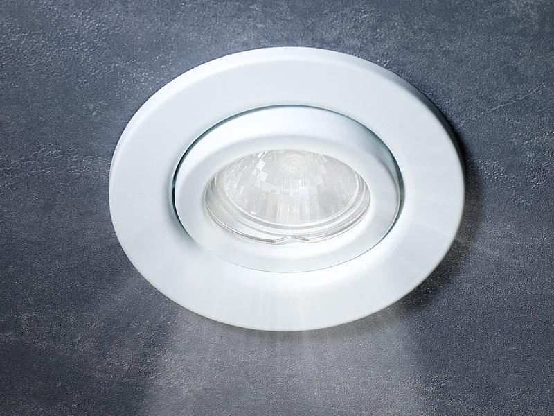 luminea lampen einbaufassungen einbaurahmen f r mr16 wei schwenkbar fassungen f r. Black Bedroom Furniture Sets. Home Design Ideas
