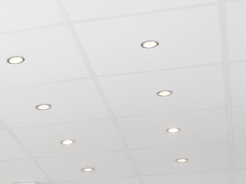... Luminea Einbaurahmen MR16, Rund, Nickel Gebürstet, Für 1 Strahler  Luminea Lampen Einbaufassungen