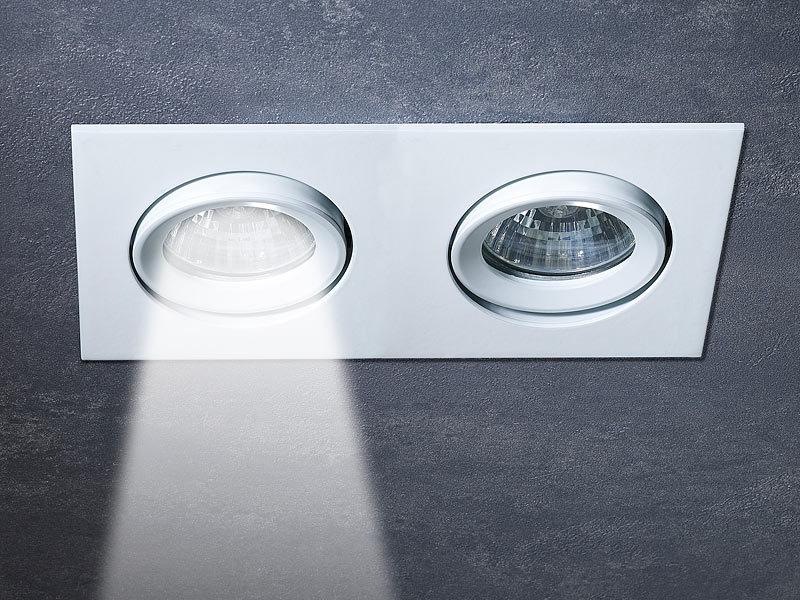 luminea led einbauleuchten komplett set 6x1 5w wei bohrloch 75mm 5000k. Black Bedroom Furniture Sets. Home Design Ideas