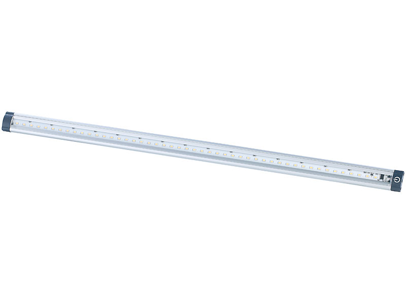 Luminea LED Leiste Touch: LED-Unterbauleuchten 2er-Set, 50 cm, Touch ...