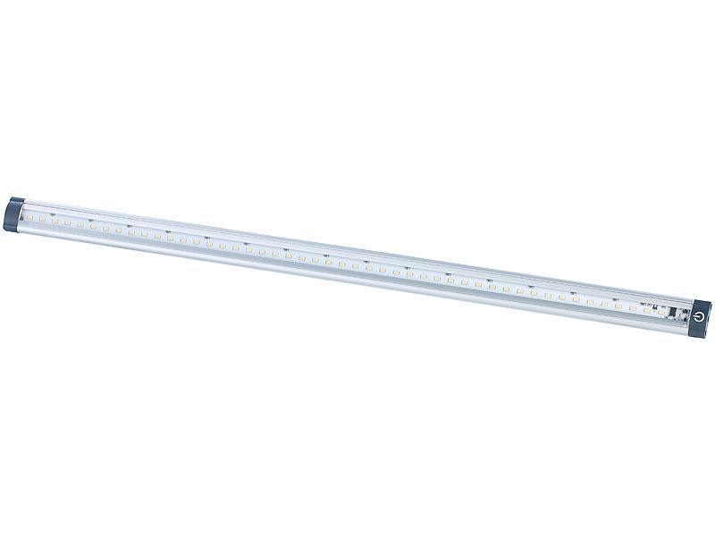 Erstaunlich Luminea LED-Unterbauleuchten im Komplett-Set, 50 cm, 3000 K, 5 W DT96