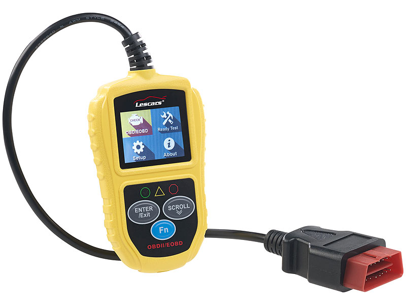 Universelles OBD2-Diagnosegerät, 5,1-cm-Farb-Display, bis zu 300 Codes