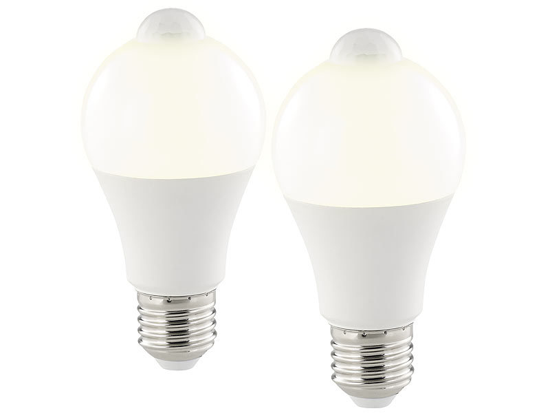 Luminea Bewegungsmelder Lampe Led Lampe Pir Sensor 12 W E27