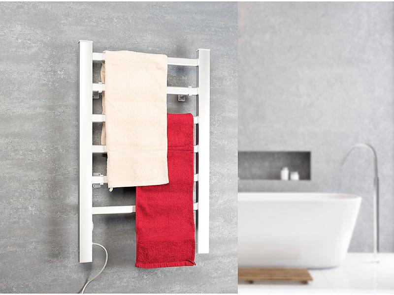 Sichler badheizung 2in1 handtuchw rmer heizk rper 90 watt zum aufstellen aufh ngen - Handtuchhalter heizung elektrisch ...