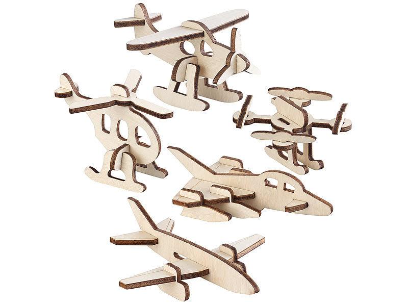 Holz Helikopter zum Zusammenbauen und Bemalen