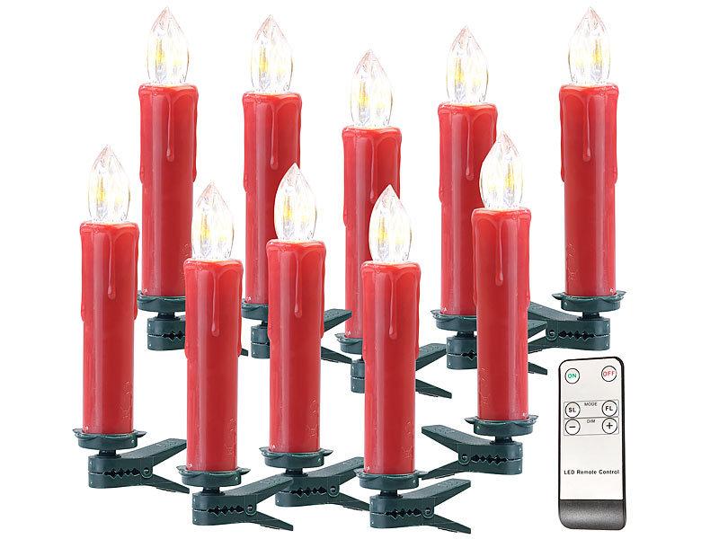 Lunartec Funkkerzen Funk Weihnachtsbaum Led Kerzen Mit