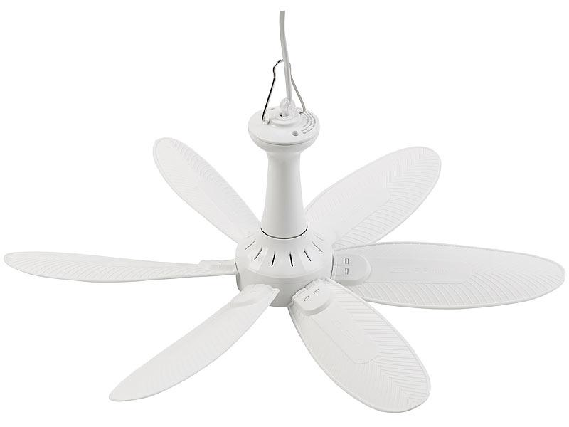 Haken an Decke Ventilator