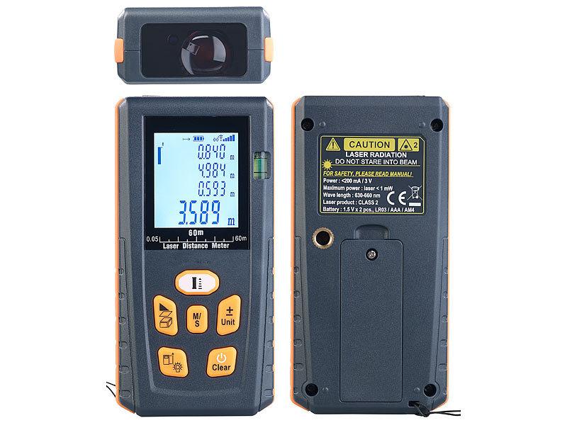 Agt professional distanzmesser: laser entfernungsmesser mit lcd
