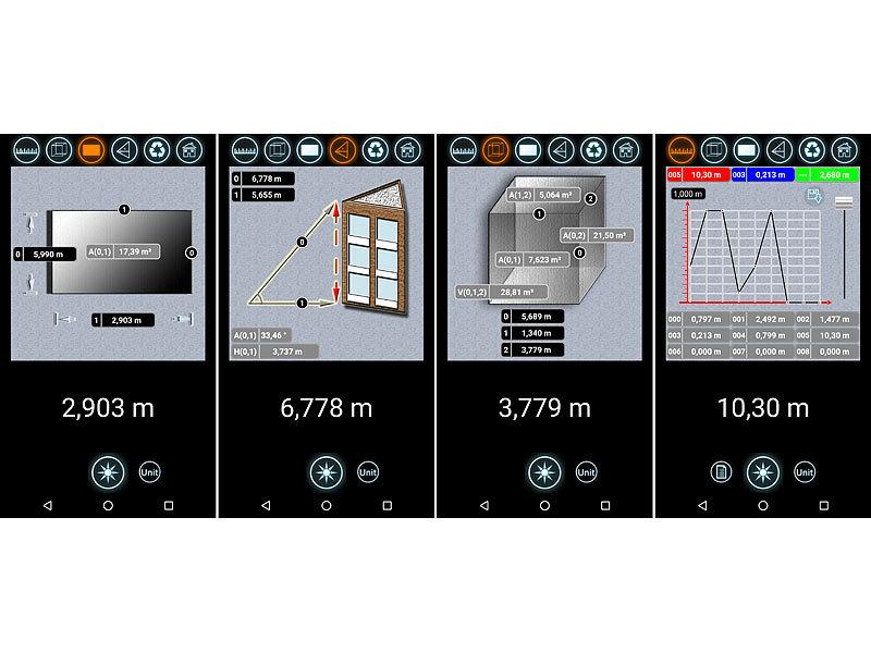 agt lasermessger te laser entfernungsmesser mit lcd bluetooth messbereich 5 cm 30 m. Black Bedroom Furniture Sets. Home Design Ideas