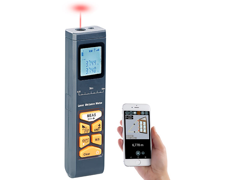 Infrarot Laser Entfernungsmesser : Agt distanzmesser laser entfernungsmesser mit lcd bluetooth