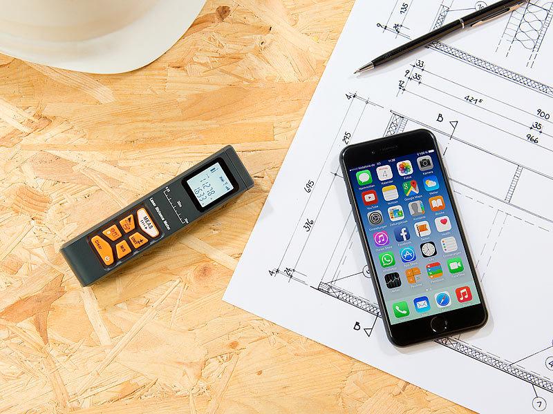 Agt laser entfernungsmesser mit lcd & bluetooth messbereich 5 cm 30 m
