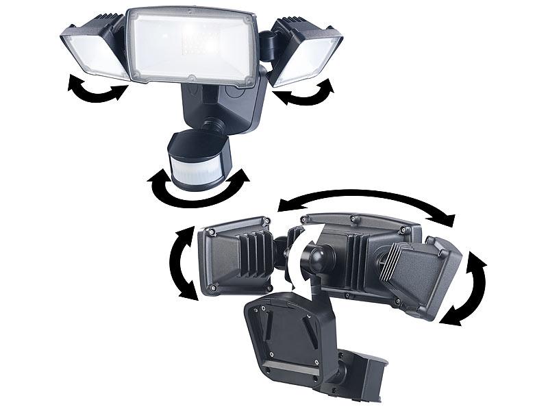 luminea led au enwandlampen 3 fach solar led fluter f r. Black Bedroom Furniture Sets. Home Design Ideas