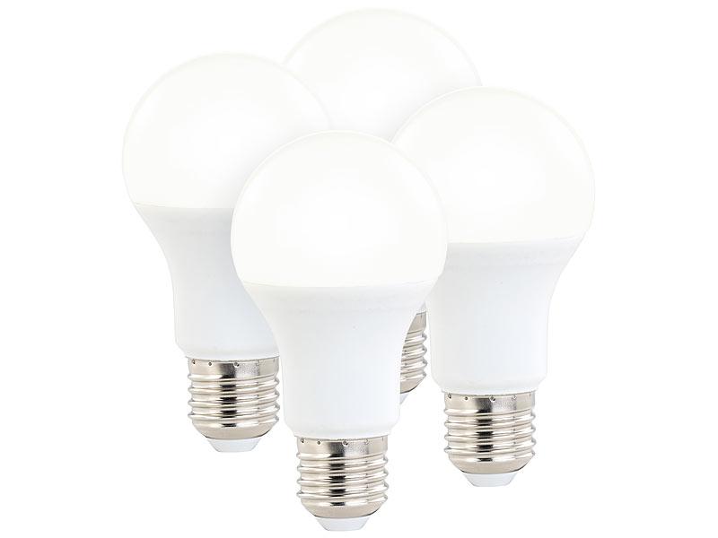 luminea led birnen dimmbar 4er set led lampen 3. Black Bedroom Furniture Sets. Home Design Ideas