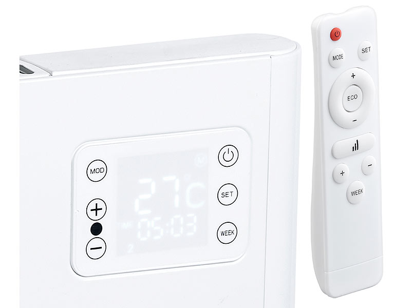 sichler elektroheizung wlan konvektor wand heizung kompatibel zu alexa google watt. Black Bedroom Furniture Sets. Home Design Ideas