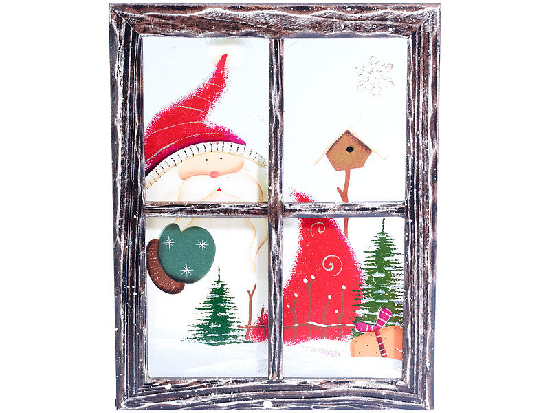 pearl bilder holz weihnachtsmann bilderrahmen mit glasscheibe bilder mit weihnachts motiven. Black Bedroom Furniture Sets. Home Design Ideas