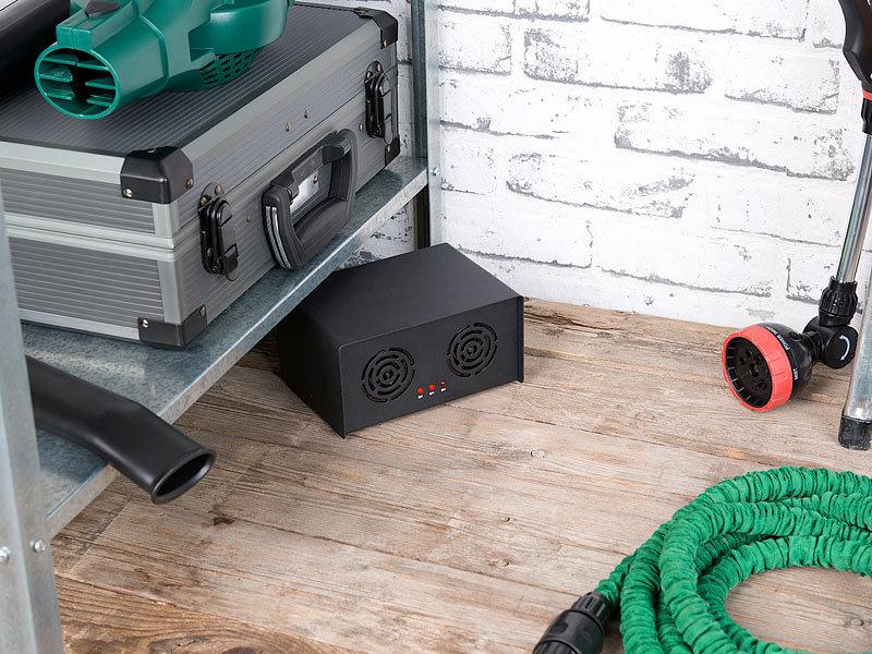 exbuster hunde abwehr profi ultraschall tiervertreiber timer 70 db 230 qm metall geh use. Black Bedroom Furniture Sets. Home Design Ideas