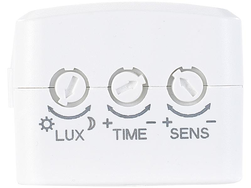 revolt lichtsensor steckdose steckdose mit pir bewegungsmelder watt schalt leistung. Black Bedroom Furniture Sets. Home Design Ideas