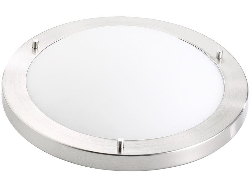 Luminea Deckenlampe E27: Deckenleuchte, IP44, mit Fassung