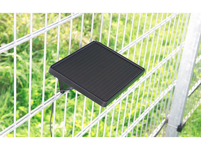 luminea led strahler solar led fluter 12x0 5w ip44 m pir sensor solarmodul schwarz. Black Bedroom Furniture Sets. Home Design Ideas