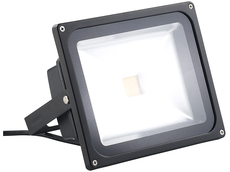 luminea led fluter 30 w schwarz ip65 lichtfarbe warmwei. Black Bedroom Furniture Sets. Home Design Ideas