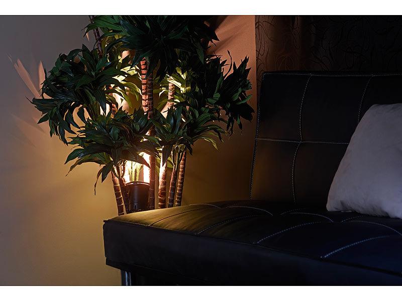 Luminea blumenstrahler f r innen indoor pflanzenstrahler einflammig gu10 schwarz 1 5m kabel - Bodenstrahler wohnzimmer ...