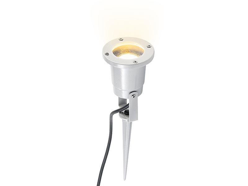 Luminea pflanzenstrahler innen indoor pflanzenstrahler einflammig gu10 grau 1 5m kabel - Bodenstrahler wohnzimmer ...