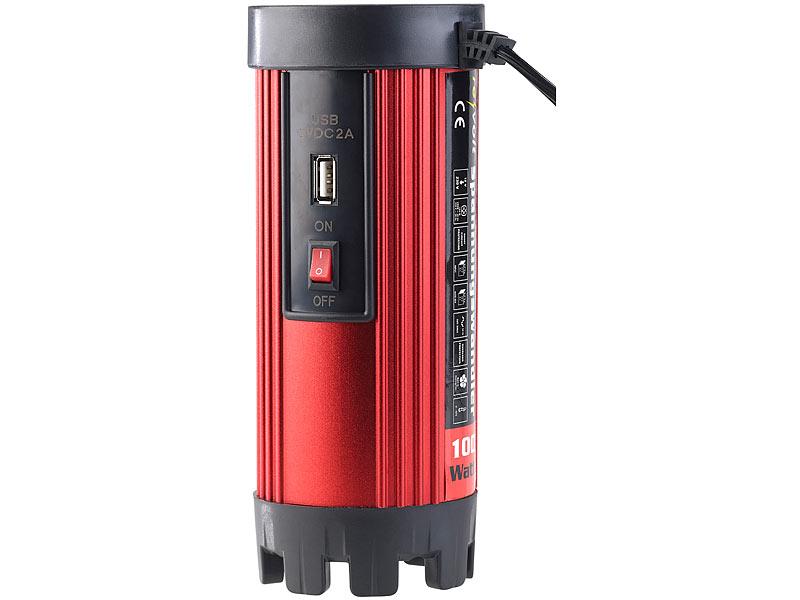 Mini Kühlschrank Mit Spannungswandler Betreiben : Revolt inverter kfz spannungswandler w v ac v usb