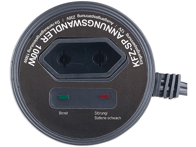 revolt Stromwandler Auto: Kfz-Spannungswandler 100 W, 230 V AC, 5 V ...