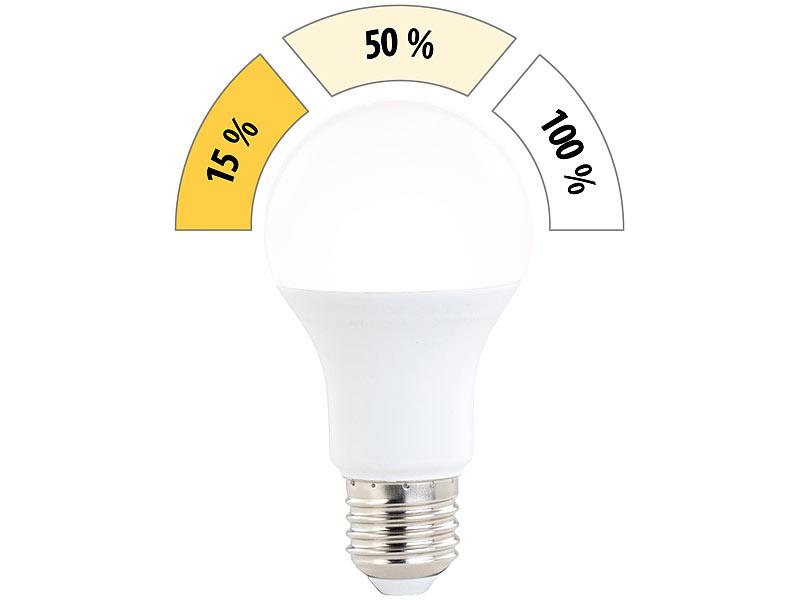 Luminea LED Glühlampen: LED-Lampe Mit 3 Helligkeits-Stufen