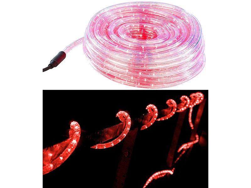 """LED Lichterkette Motiv /""""Blüten/"""" 10 LEDs Batteriebetrieb für Innen rot oder weiß"""