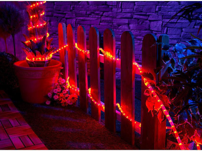 Lunartec Lichterkette Led Lichtschlauch Fur Innen Aussenbereich