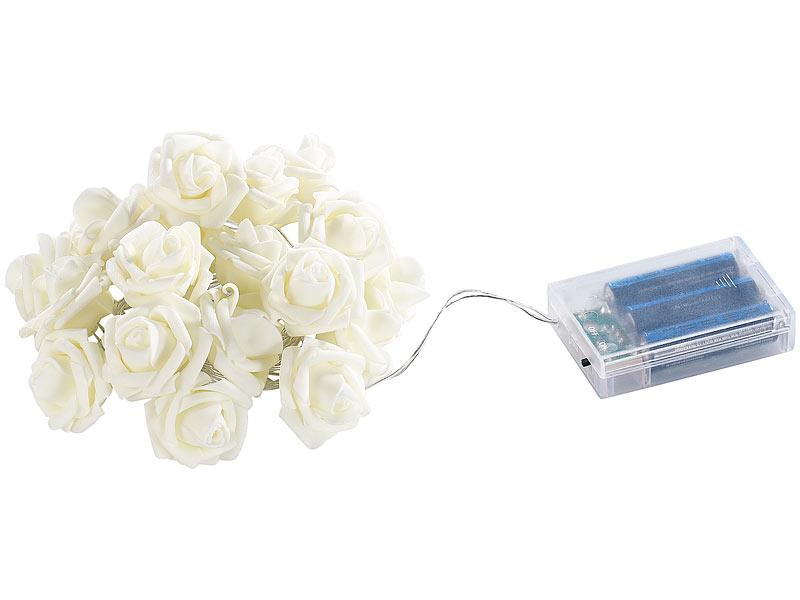 lunartec rosen led lichterkette mit 20 leds warmwei 1 9. Black Bedroom Furniture Sets. Home Design Ideas