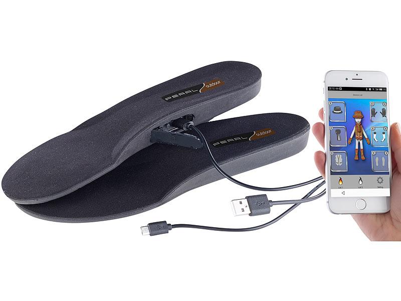 Pearl Outdoor Schuhheizung Beheizbare Akku Schuheinlagen App