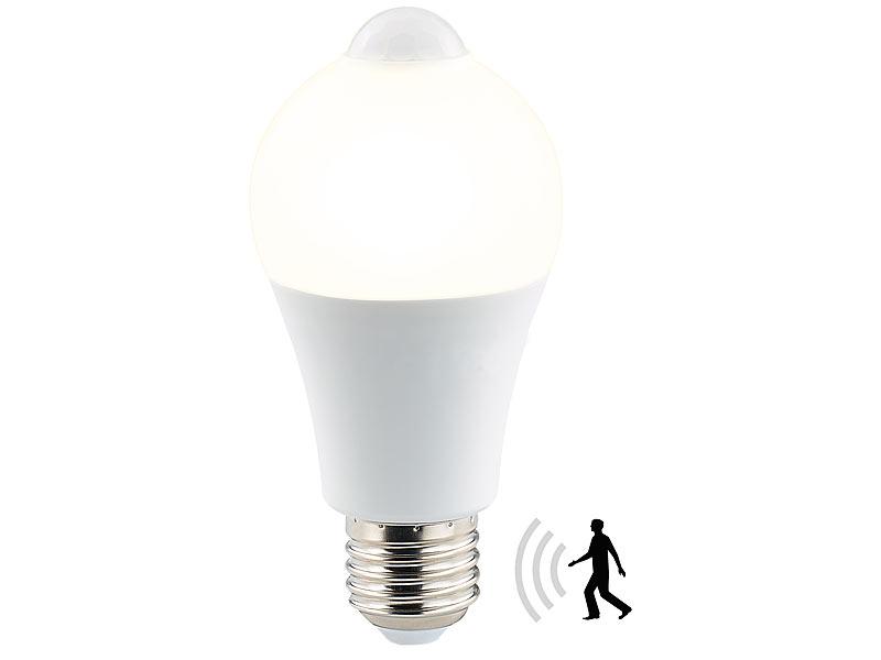 Lampe Mit Sensor : luminea led lampe mit pir sensor 6 5 watt e27 warmwei ~ Watch28wear.com Haus und Dekorationen
