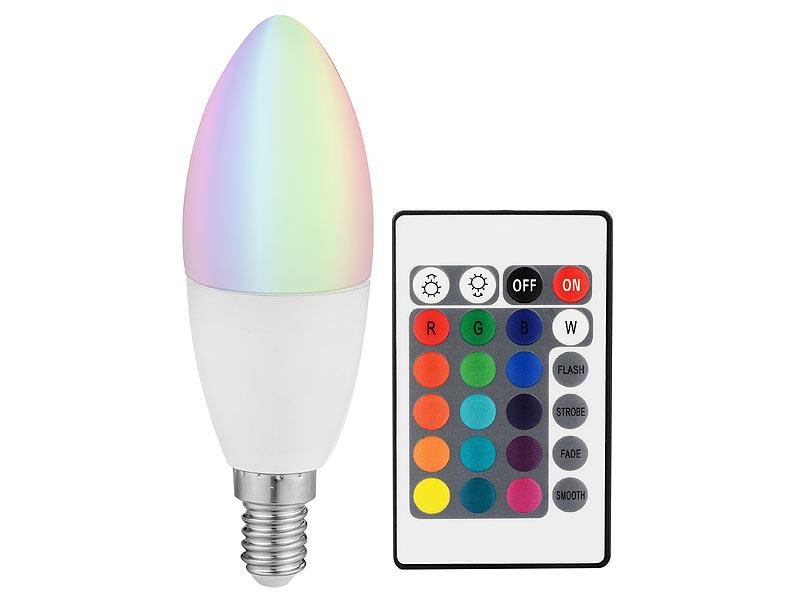 luminea cob led kerze mit rgb farben und fernbedienung 3 watt. Black Bedroom Furniture Sets. Home Design Ideas