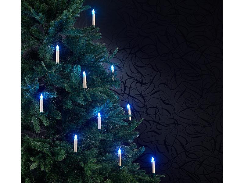lunartec christbaumkerze rgb weihnachtsbaumkerzen mit ir fernbedienung 20er set. Black Bedroom Furniture Sets. Home Design Ideas