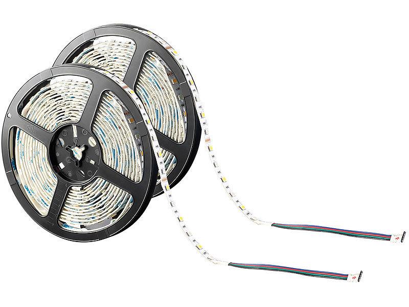 lunartec led streifen lx 500n 5 m rgbw innenbereich 2er set. Black Bedroom Furniture Sets. Home Design Ideas